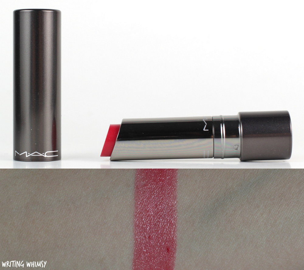 MAC Huggable Lipcolor in Cantonese Carnation Review and Swatches 1