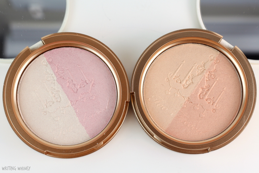 Too Faced Candlelight Glow Highlighting Powder Duo Swatches