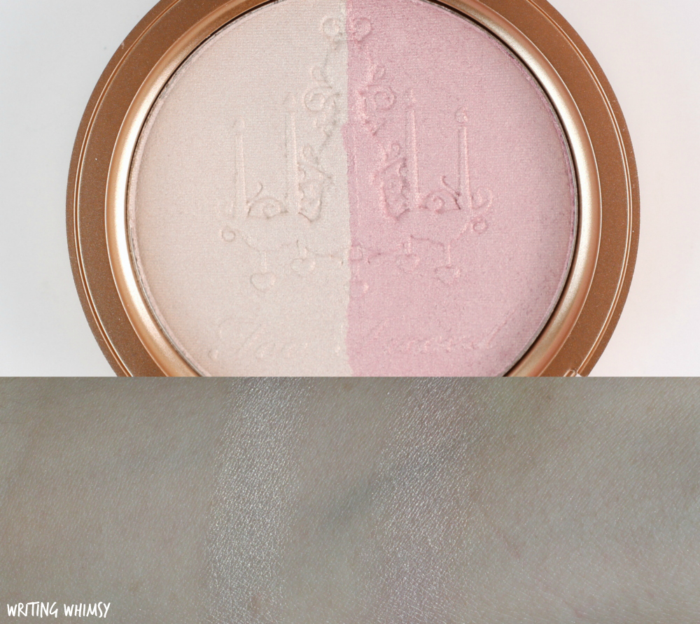 Too Faced Candlelight Glow Highlighting Powder Duo in Rosy Glow Swatch