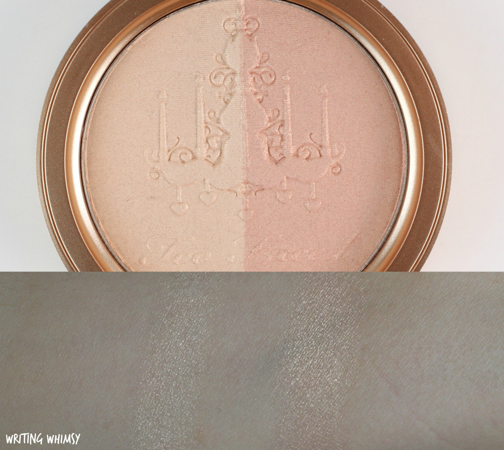 Too Faced Candlelight Glow Highlighting Powder Duo in Warm Glow Swatch