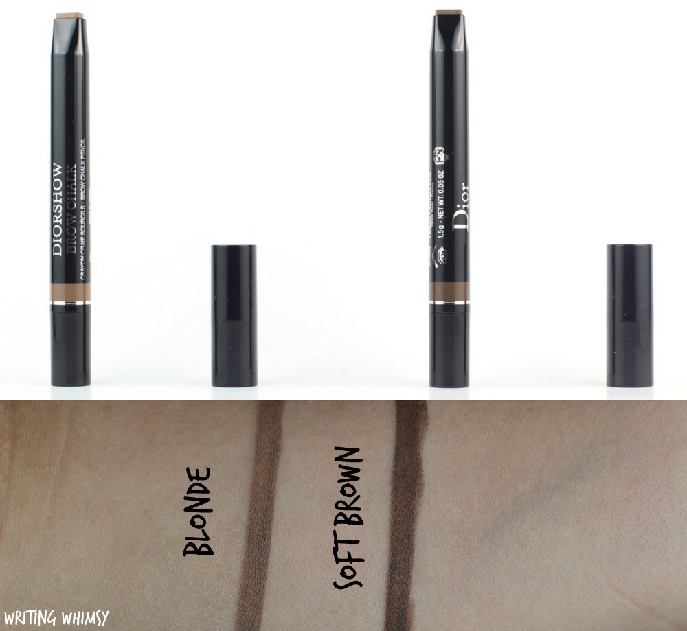 Dior Diorshow Brow Chalk In Blonde And Soft Brown Swatches Review Writing Whimsy
