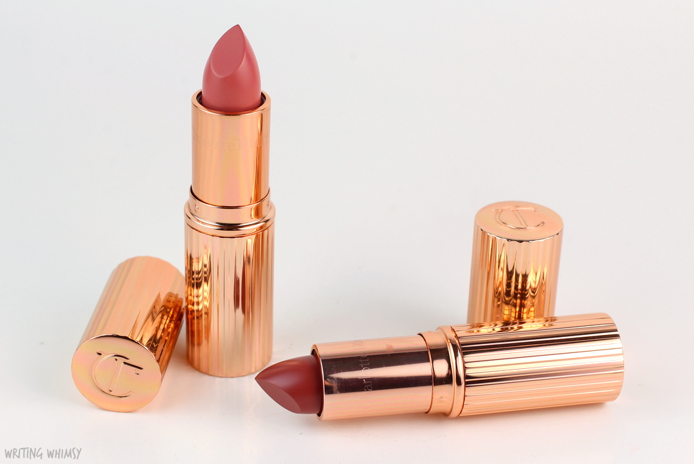 Charlotte Tilbury K.I.S.S.I.N.G Lipstick in Bitch Perfect & Stoned Rose Review + Swatches 3