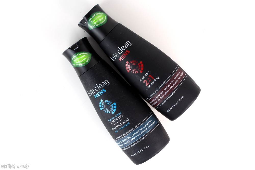 Live Clean Mens Classic Clean Shampoo and Live Clean Mens 2 in 1 Review