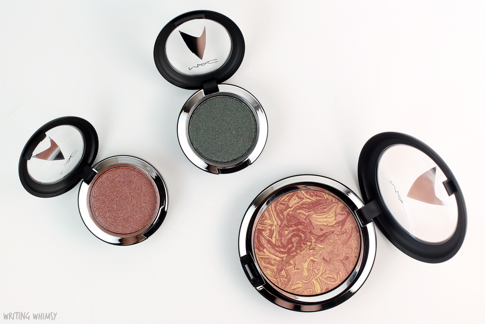 MAC Star Trek Collection Pressed Pigment Eyeshadow in Bird of Prey and To Boldy Go Review 2
