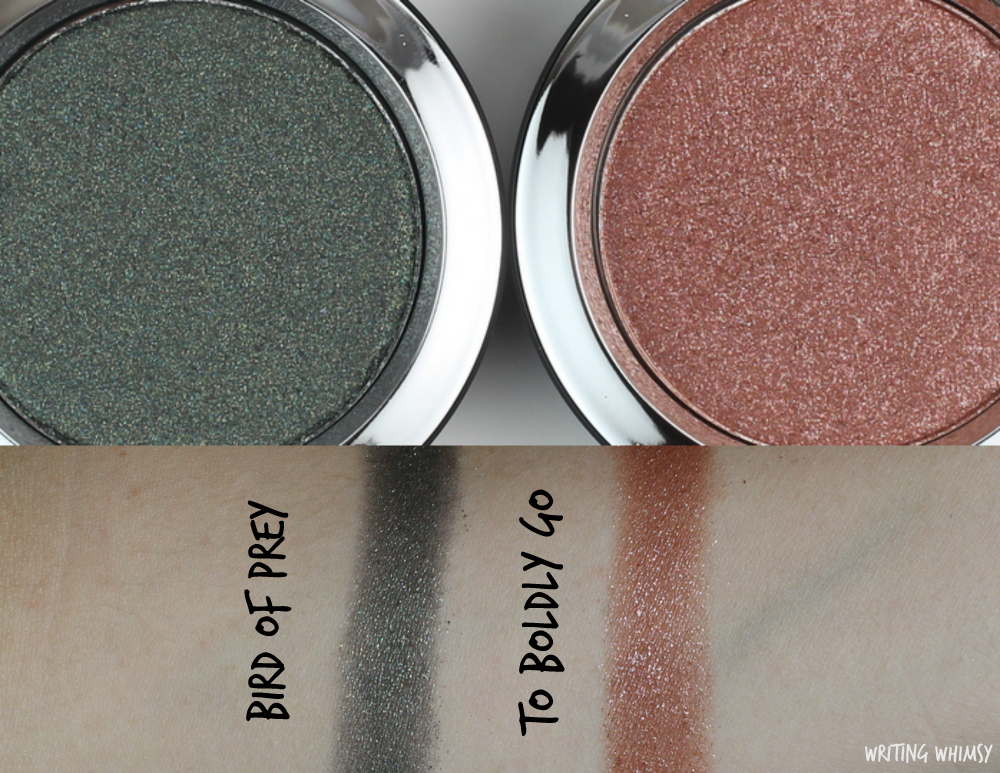 MAC Star Trek Collection Pressed Pigment Eyeshadow in Bird of Prey and To Boldy Go Review