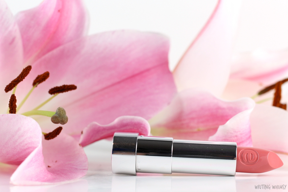essence sheer & shine lipstick in cute nude swatches
