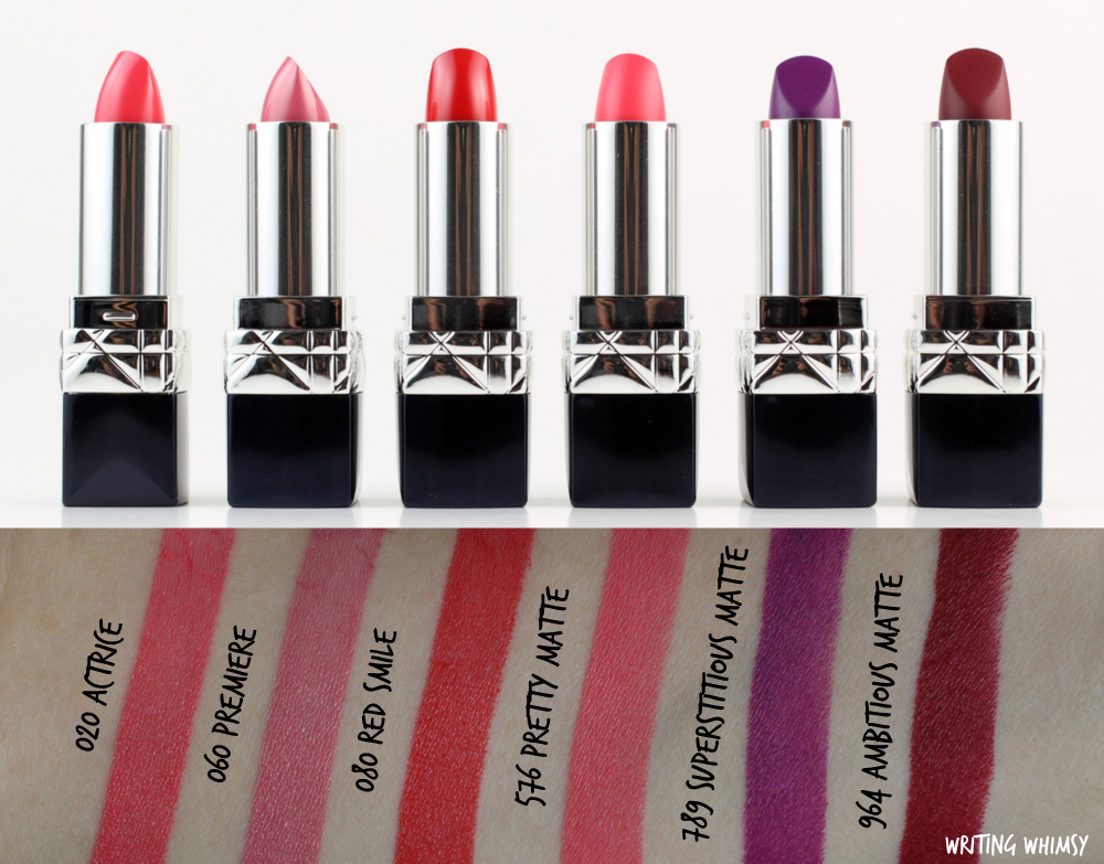 NEW Dior Fall 2016 Rouge Dior Lipsticks Swatches + Review