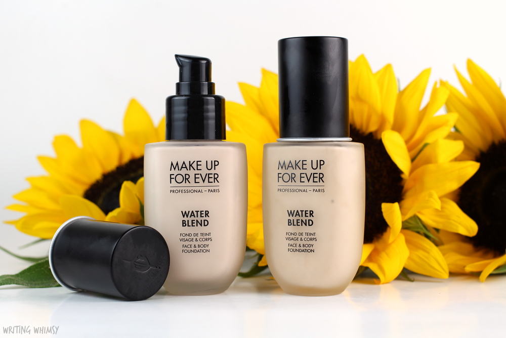 make-up-for-ever-water-blend-foundation-in-y215-swatches-review