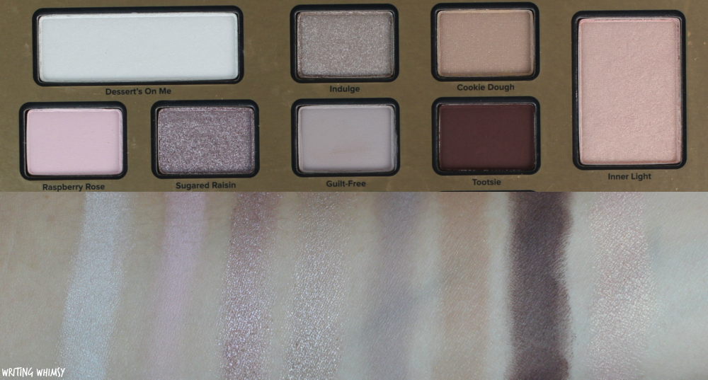 Too Faced The Chocolate Shop Swatches + Review