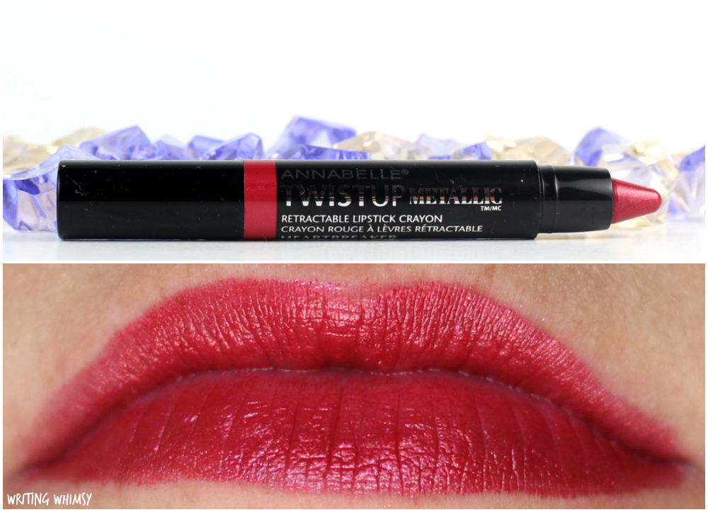 1-Annabelle TwistUp Metallic Retractable Lipstick Crayon in Heartbreaker-001