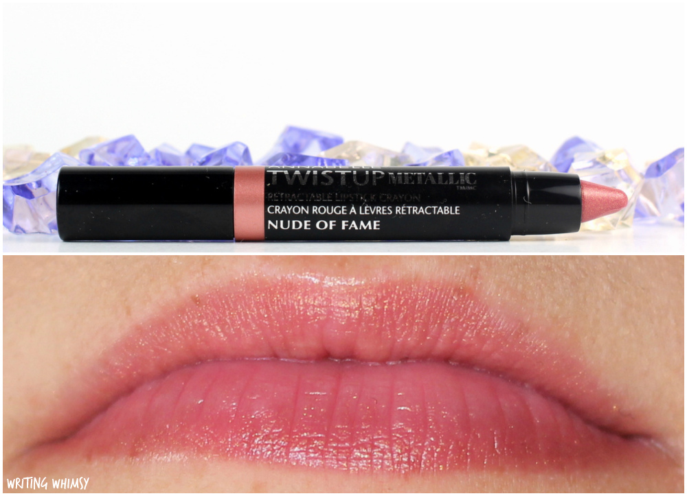 3-Annabelle TwistUp Metallic Retractable Lipstick Crayon in Nude of Fame