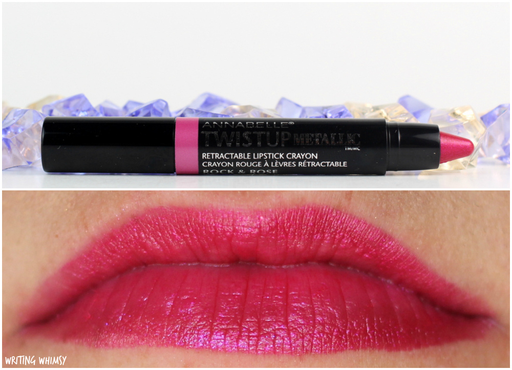 4-Annabelle TwistUp Metallic Retractable Lipstick Crayon in Rock & Rose
