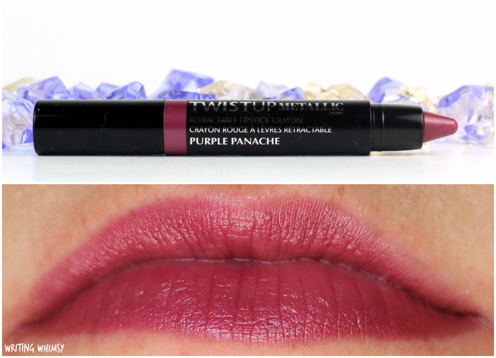 6-Annabelle TwistUp Metallic Retractable Lipstick Crayon in Purple Panache Swatch