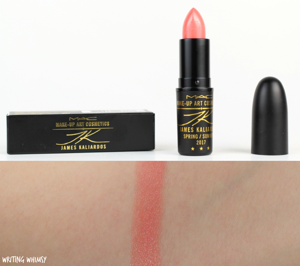 MAC James Kaliardos Lipstick in Coral Bliss Swatches ...