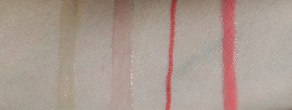 essence bb beauty balm lipgloss in sweet dreams swatch