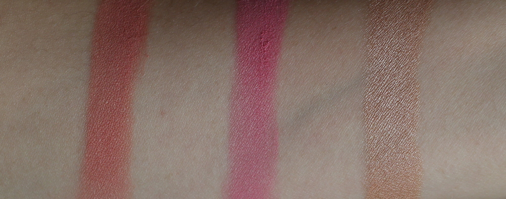 essence mosaic blushes swatches